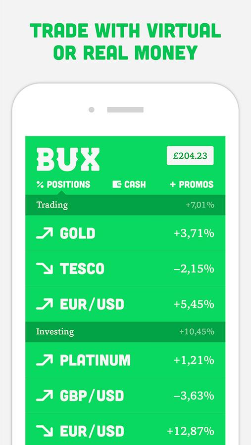 BUX - Trading Made Exciting- screenshot