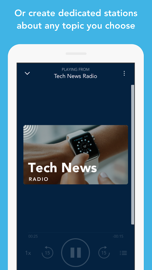 Otto Radio for news & podcasts- screenshot