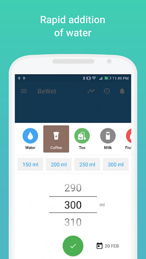 BeWet - Drink Water Reminder, Tracker and Alarm 1.13.7 screenshots 2