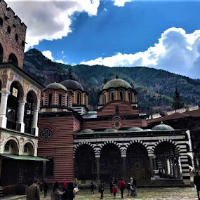 At the foot of the Rila Mountain by Elenka Smilenova - Buildings & Architecture Places of Worship ( architecture monastery history )