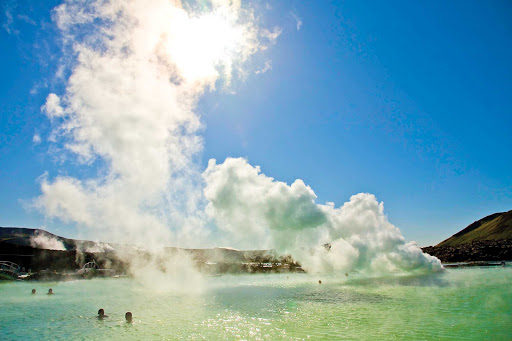 Lindblad-Expeditions-Iceland-Blue-Lagoon2.jpg - Take a swim in the soothing steamy waters of Iceland's geothermal Blue Lagoon, with an average temperature of 100 degrees, during a Lindblad Expeditions tour.