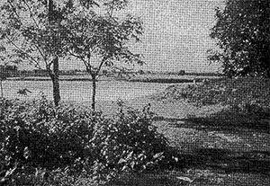 Photo: Indian tanks penetrated in Bangladesh by this Mahananda river point, in Tetulia