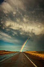 """Photo: """"Into The Storm""""--- The Eastern plains of Colorado outside of Crook, Colorado. Chasing severe and tornado warned thunderstorms out here in the middle of no where is quite an adventure. I am rather shocked this shot even turned out as we were trucking at 80+ mph at the time. That rainbow had quite the pot of gold too in the form of some of my favorite clouds, Mammatus clouds which are often very much associated with very severe or tornadic thunderstorms. Hitting this storm right at great light in golden hour was just an added bonus! I hope you all like it! ---John  #SkySunday #Colorado #nature #tornado #cowx #landscpae #nature"""