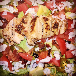 Spicy Southwestern Grilled Chicken Salad with Creamy Jalapeno Dressing.