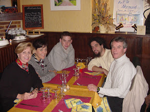 Photo: Our first dinner is in Cambremer, in the small local restaurant Au P'tit Normand