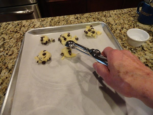 Spoon onto cookie sheer and bake for 10 minutes, until edges are brown.