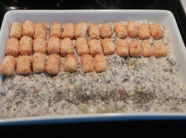 Put the above ingredients, in a baking dish. Heat oven to 375 F.