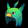 緑のトリのあたまフードS