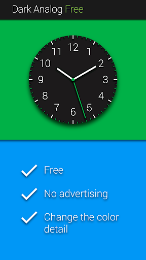 Dark Analog Free Watch Face