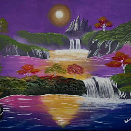 Colorful Landscape by Sangeeta Paul - Painting All Painting