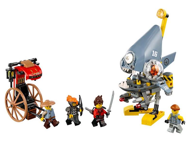 Contenido de Lego® 70629 Ataque de la Piraña