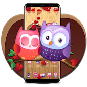 Cute Owl Couple Tree