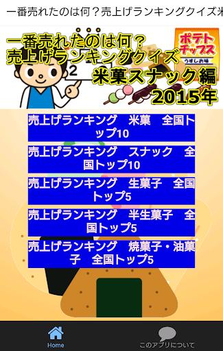 一番売れたのは何?売上げランキングクイズ米菓スナック編'15