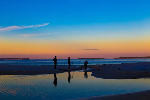 3 Friends at a sunset  by Faisal Enam - Landscapes Beaches ( friends, sunset, reflections, beach,  )