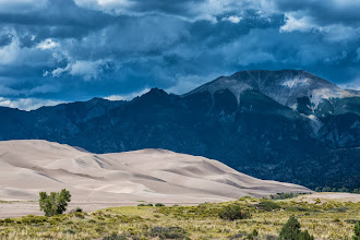 Photo: Ominous clouds at Great Sand Dunes NP, CO