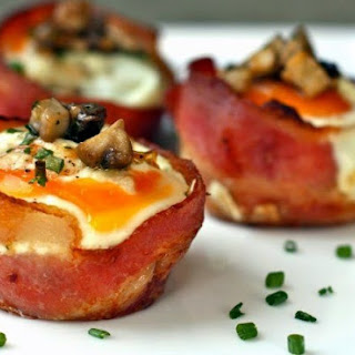 Healthy Gluten-free Bacon And Egg Cups Breakfast