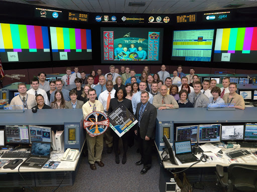 ISS ULF2 Flight Control Team in FCR-1 - Orbit 3 - Flight Director David Korth