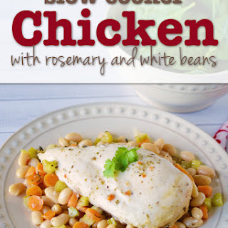 Slow Cooker Chicken with Rosemary and White Beans