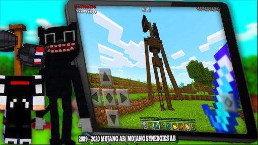 Cartoon Cat Mod & New Siren Head Mod For MCPE apktram screenshots 21