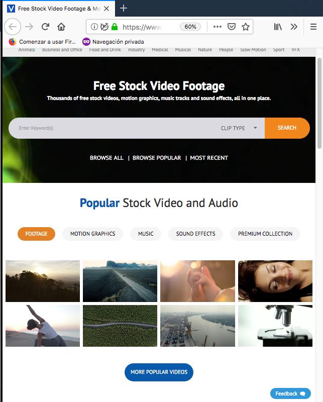bancos de videos gratuitos videvo