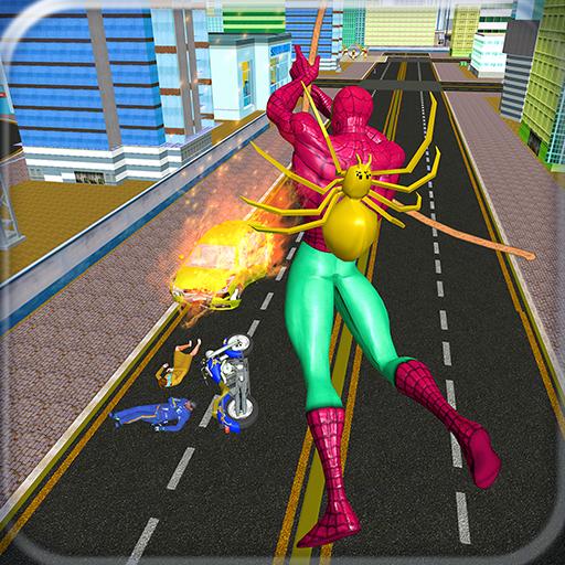 Spider Hero Terrorist Action Rope Superhero Rescue