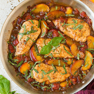 Peach Balsamic Vinegar Chicken Recipes
