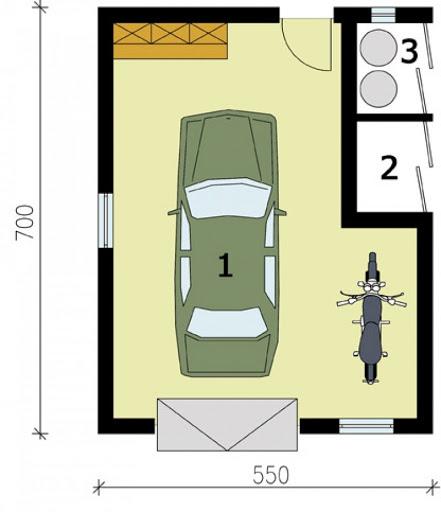 G172 - Rzut garażu