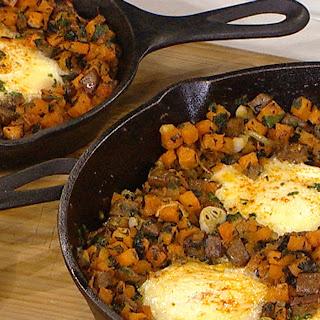 Sausage, Sage, and Sweet Potato Hash and Eggs