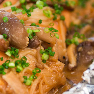 Miso Salmon with Mushrooms.