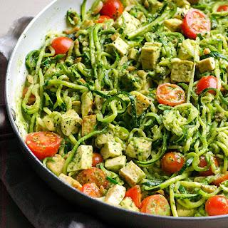 Pesto Chicken Zucchini Noodles