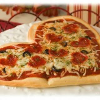 Heart Shaped Pizza.