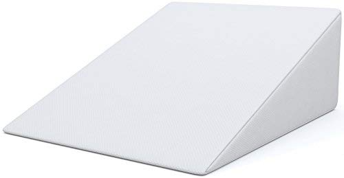 Image result for FitPlus Bed Wedge Premium Pillow 1.5 Inches Memory Foam, Acid Reflux Pillow with Removable Cover Dr Recommended for Snoring and Gerd