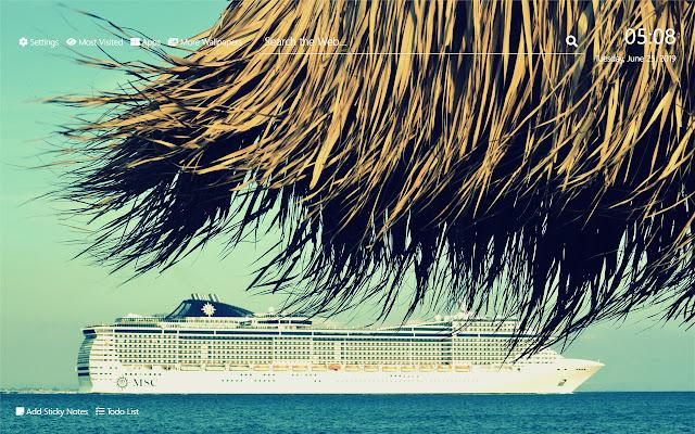 Cruise Vacations Wallpaper HD New Tab Theme