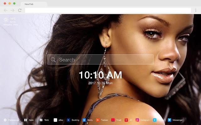 Rihanna New Tab Page HD Wallpapers Themes