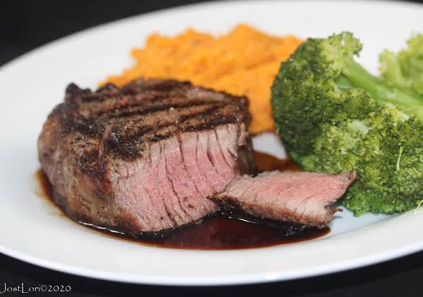 Espresso-bourbon Steaks With Mashed Sweet Potatoes
