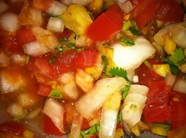 This is my pineapple salsa.