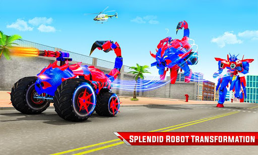 Scorpion Robot Monster Truck Transform Robot Games 9 screenshots 5