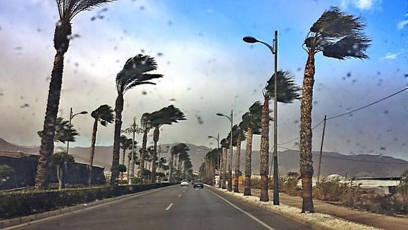 Imagen de archivo de un día de aviso por viento en la provincia.