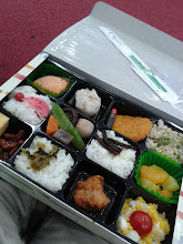 Photo: Lunch at the conference, a bento box.