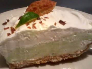 Coconut Cookie Crusted Lime Cream Pie