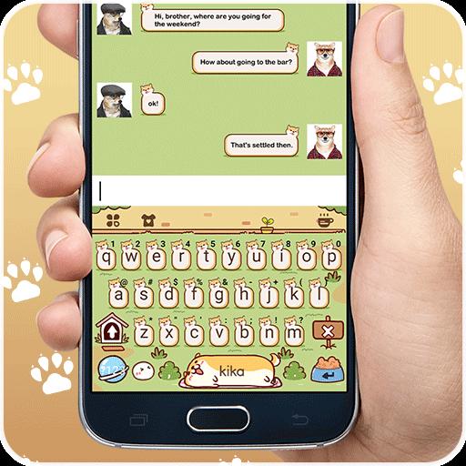 Keyboard - Lovely Puppy cute Free Emoji Theme (app)