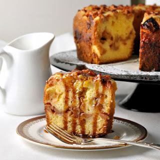 Apple Cake with Warm Salted Caramel Sauce