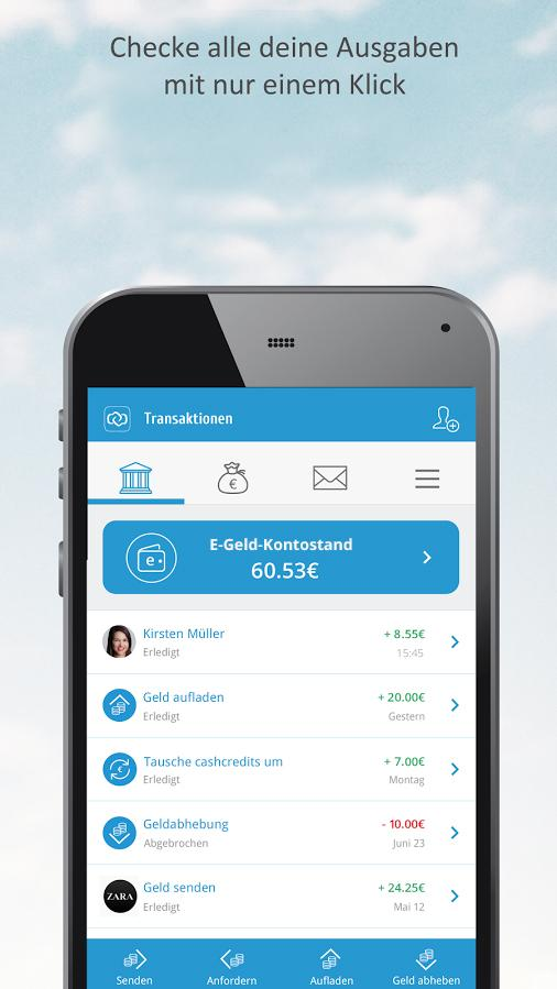 Cashcloud Wallet – Screenshot