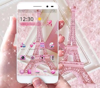 Download 3d Rose Live Wallpaper Full Version Download Pink Theme Eiffel Tower Love For Pc Windows 7 8