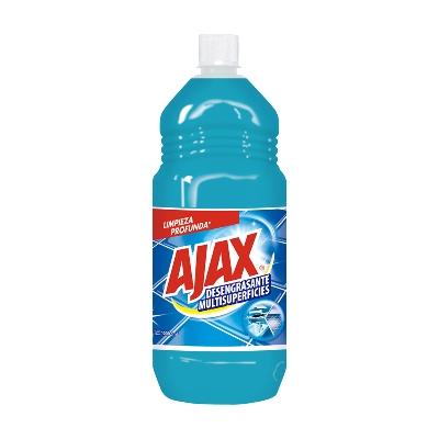 limpiador ajax desengrasante multisuperficies 1l Ajax multiuso antibacterial con fórmula reforzada que remueve la suciedad de tus pisos y arranca la grasa fácilmente.