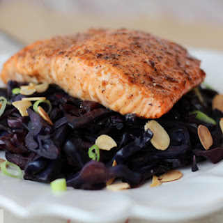 Maple Arctic Char with Braised Cabbage & Apples.