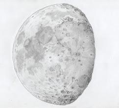 Photo: Lune à PQ+ 3 jours, le 15 février 2019 au soir. 5h de dessin derrière une Taka FS78 à 52X. Version originelle.