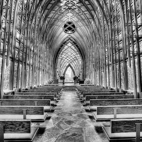 Cooper Chapel by William Rainey  - Buildings & Architecture Places of Worship ( mono-tone, interior, building, b&w, black and white, churches, black and white collection, landscape, monotone, people, photography, portrait, city, heavenfrank lloyd wright, b and w, arkansas,  )