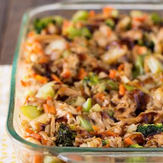 Teriyaki Chicken and Rice Casserole.