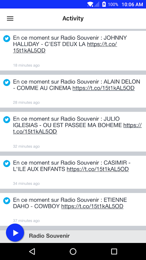 Radio Souvenir- screenshot